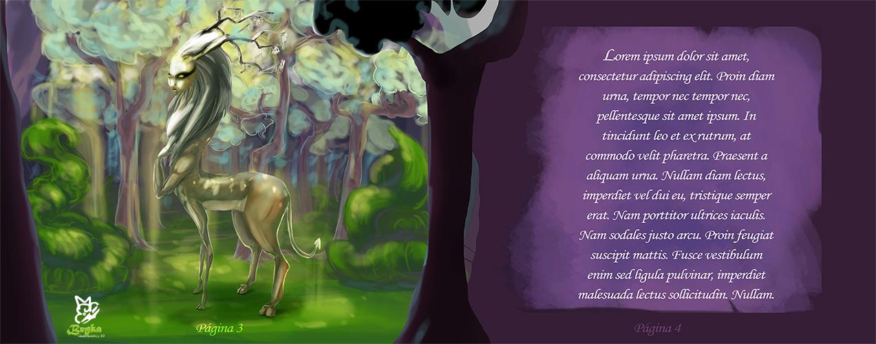 Ilustración de el espíritu del bosque