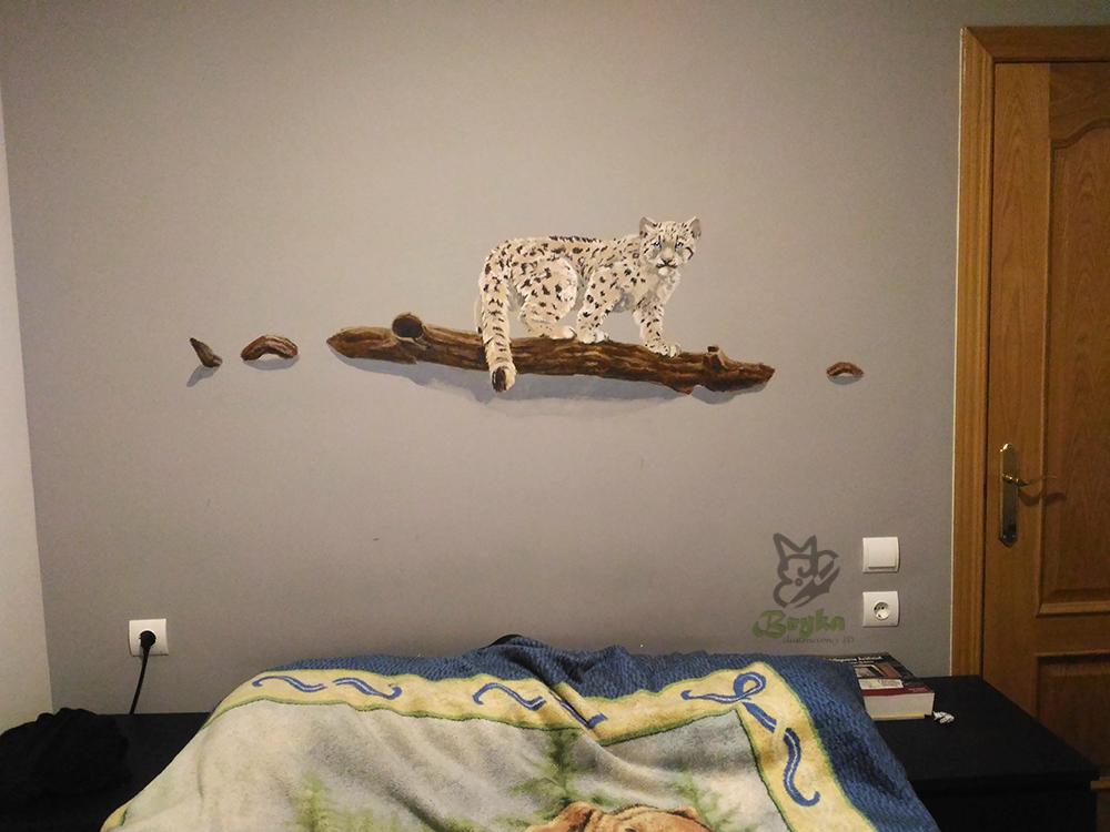 Mural de leopardo