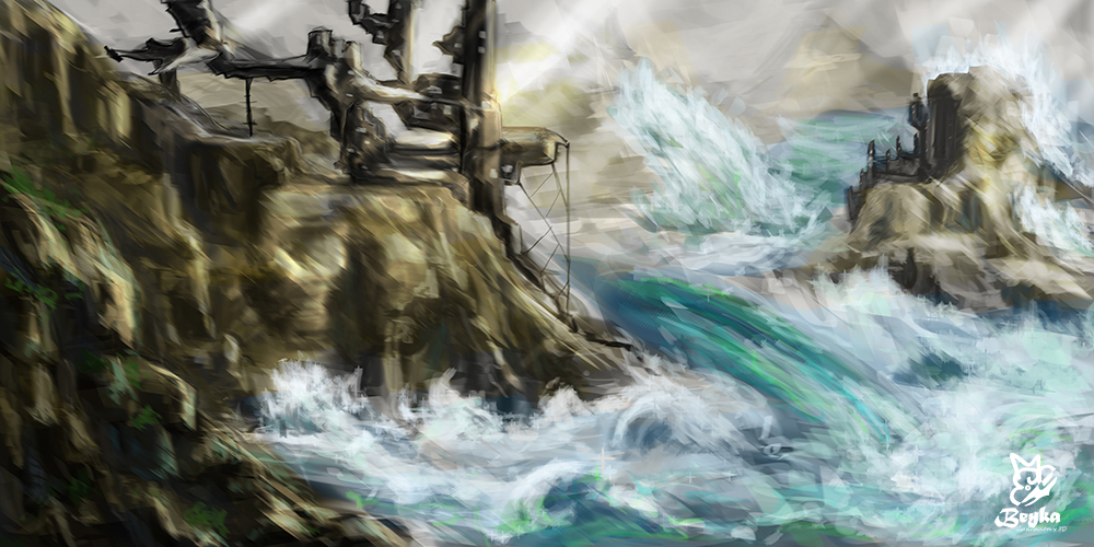 Speed painting de un paisaje marino